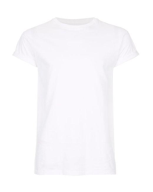 8ce6d48a Topman - White Skinny Fit Roller T-shirt for Men - Lyst ...