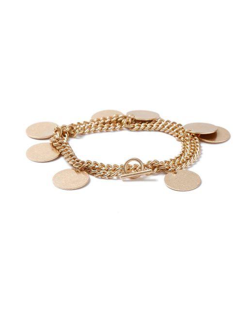 Topman - Metallic Gold Coin Bracelet for Men - Lyst