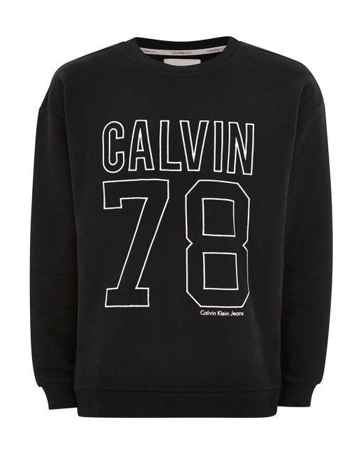 Topman - White Calvin Klein Oversized '78' Hoodie for Men - Lyst