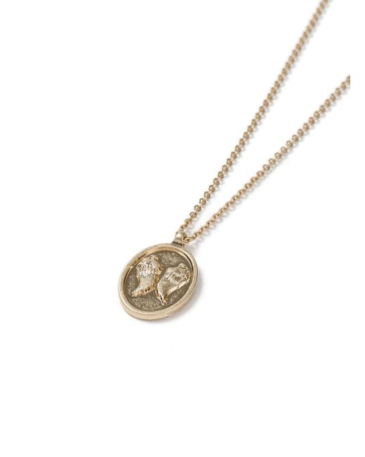 Topman - Gray Gold Wing Necklace for Men - Lyst