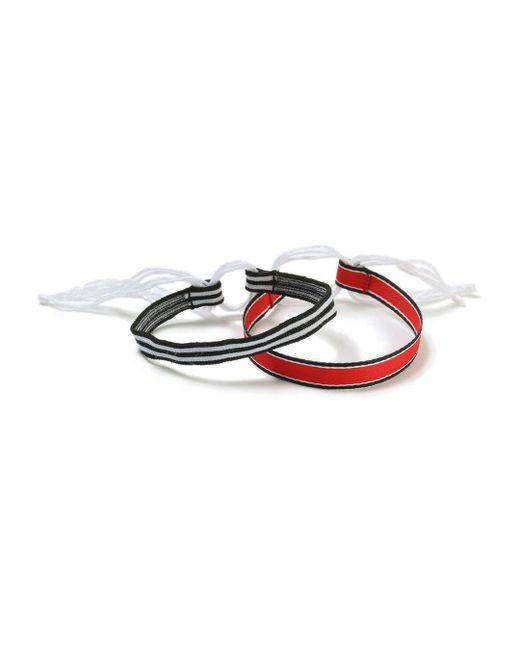 Topman - Red Triped Bracelet Pack for Men - Lyst
