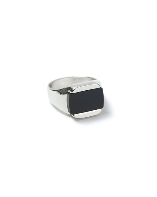 Topman - Black Ilver Inlay Ring for Men - Lyst