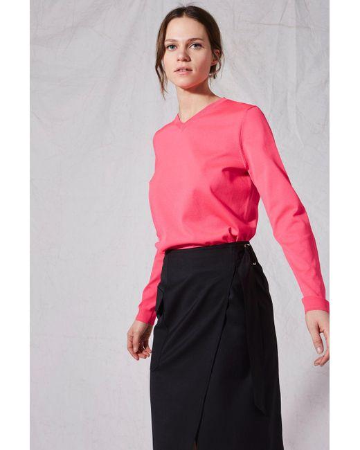 TOPSHOP - Pink V-neck Jumper By Boutique - Lyst