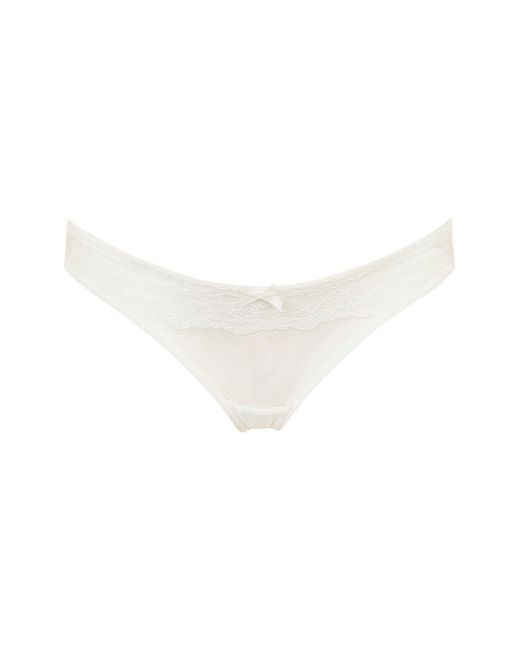 TOPSHOP - White Maternity Lace And Mesh Mini Panties - Lyst