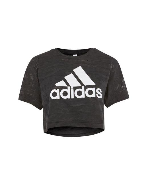TOPSHOP   Black Aero Knitted Crop T-shirt By Adidas Originals   Lyst