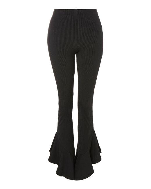 TOPSHOP | Black Petite Mermaid Frill Flare Trousers | Lyst