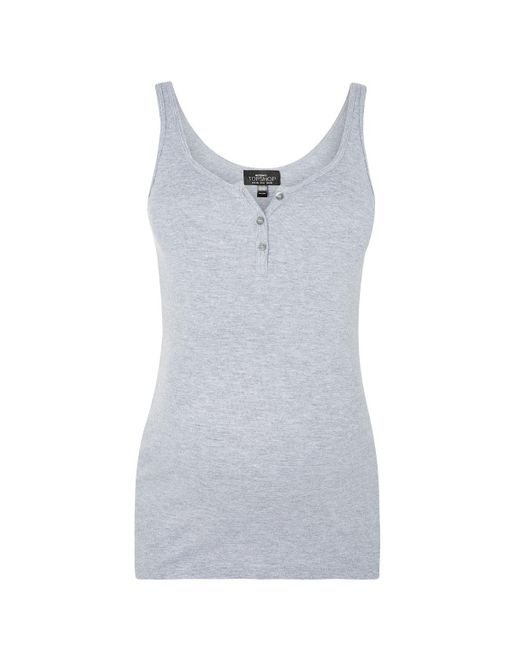 TOPSHOP | Gray Maternity Button Front Vest Top | Lyst