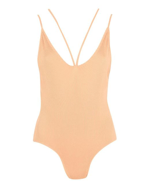 TOPSHOP | Natural Swimsuit By | Lyst