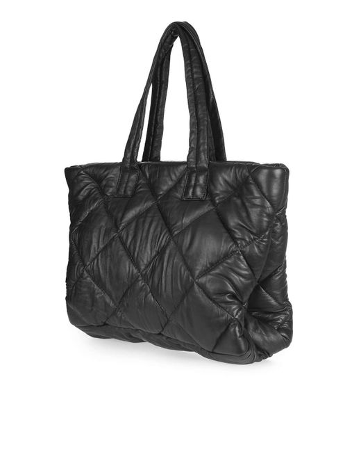 Topshop Quilt Puff Tote Bag In Multicolour Black Lyst