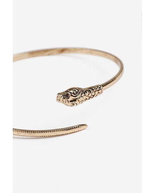 TOPSHOP - Metallic snake Armcuff - Lyst