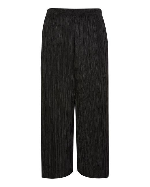 TOPSHOP | Black Petite Plisse Awkward Trousers | Lyst