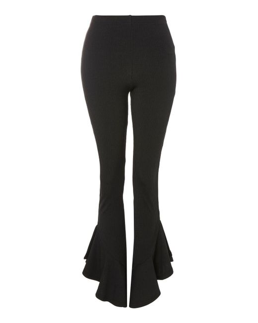 TOPSHOP | Black Mermaid Frill Flare Trousers | Lyst