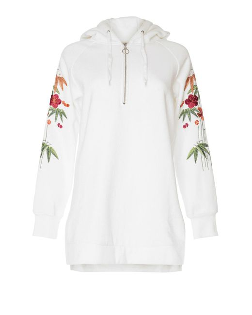 Glamorous | White Floral Embroidered Hoodie By | Lyst