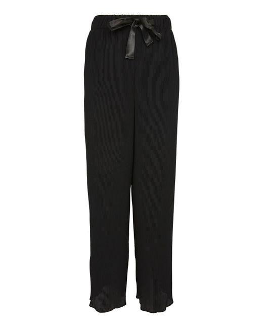 TOPSHOP | Black Tall Pleat Awkward Wide Leg Trousers | Lyst