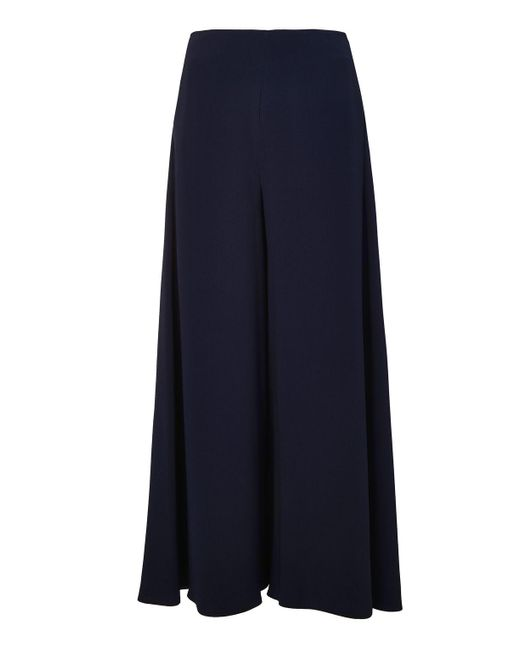 TOPSHOP | Blue Side Split Palazzo Trousers | Lyst