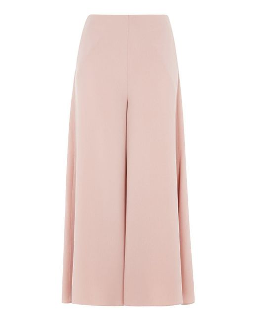 TOPSHOP | Pink Side Split Palazzo Trousers | Lyst