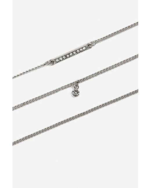 TOPSHOP - Metallic Freedom Finer Rhinestone Bracelet Pack - Lyst