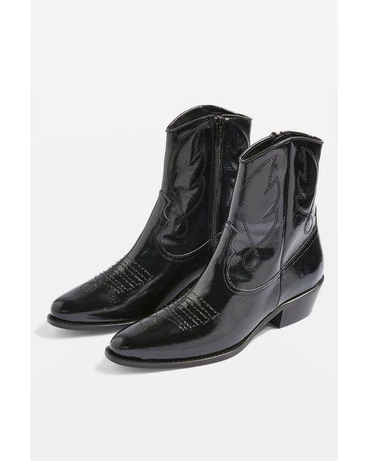 TOPSHOP - Black Arizona Western Boots - Lyst