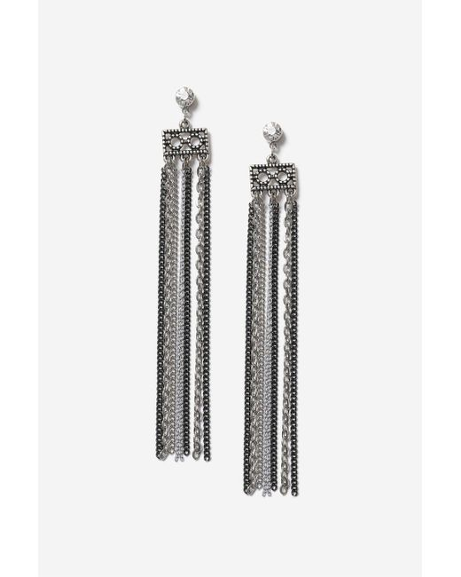 TOPSHOP | Metallic Multi-chain Drop Earrings | Lyst