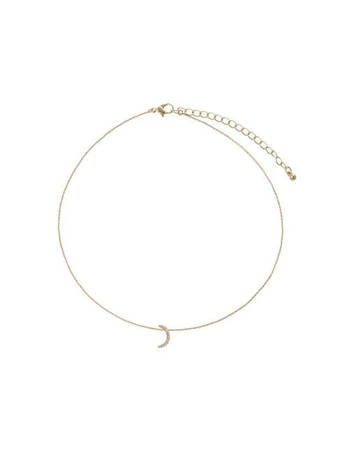 TOPSHOP | Metallic Gold Plated Moon Ditsy Necklace | Lyst
