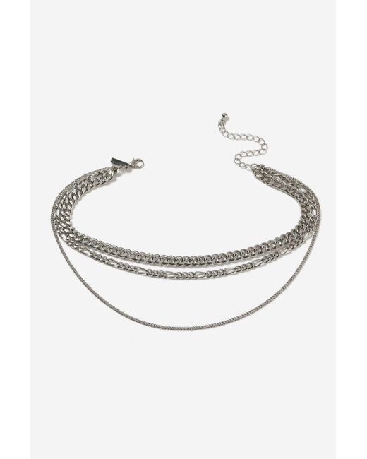TOPSHOP   Metallic Three Row Chain Choker Necklace   Lyst