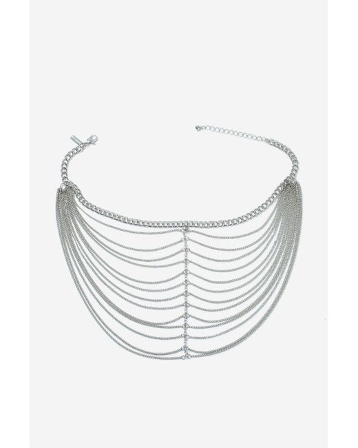 TOPSHOP | Metallic Layered Chain Choker Necklace | Lyst