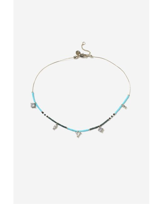 TOPSHOP | Blue Beaded Choker Necklace | Lyst