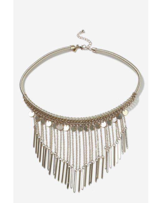 TOPSHOP | Metallic Chain Drop Collar Necklace | Lyst