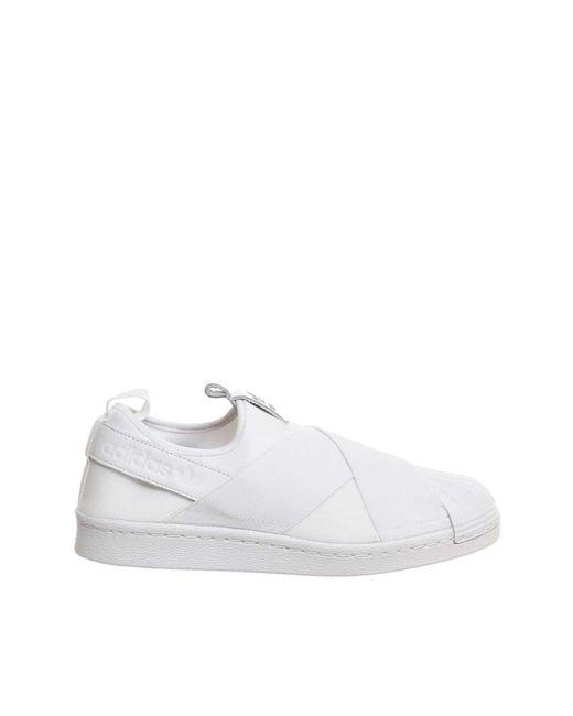 Office | White Superstar Slip On Trainers By Adidas Originals | Lyst