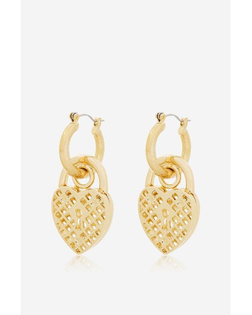 Skinnydip London | Metallic Aida Chunky Padlock Earrings By Skinnydip | Lyst