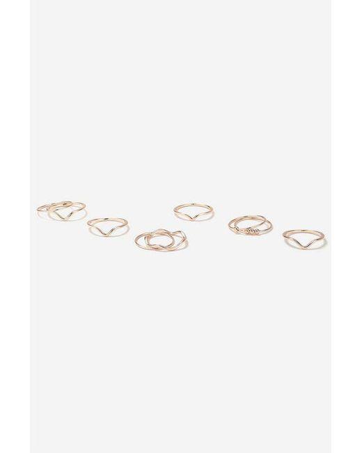 TOPSHOP - Metallic Clean Multiband Ring Pack - Lyst