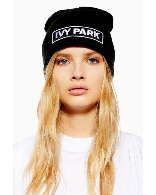 Ivy Park - Black Badge Logo Beanie By - Lyst