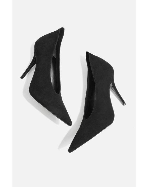 TOPSHOP - Black Gizzelle Court Shoes - Lyst