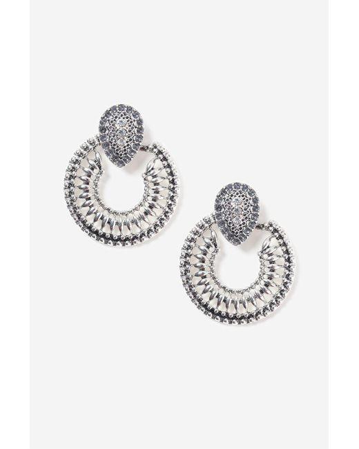 TOPSHOP   Metallic Door Knocker Earrings   Lyst