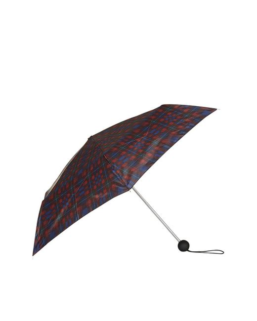 TOPSHOP | Red Check Umbrella | Lyst