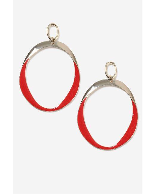 TOPSHOP | Red Drop Hoop Earrings | Lyst