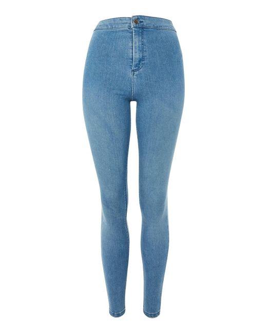 TOPSHOP | Moto Authentic Blue Joni Jeans | Lyst