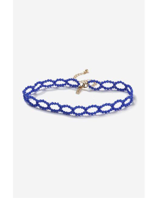 TOPSHOP | Facet Blue Loop Choker Necklace | Lyst