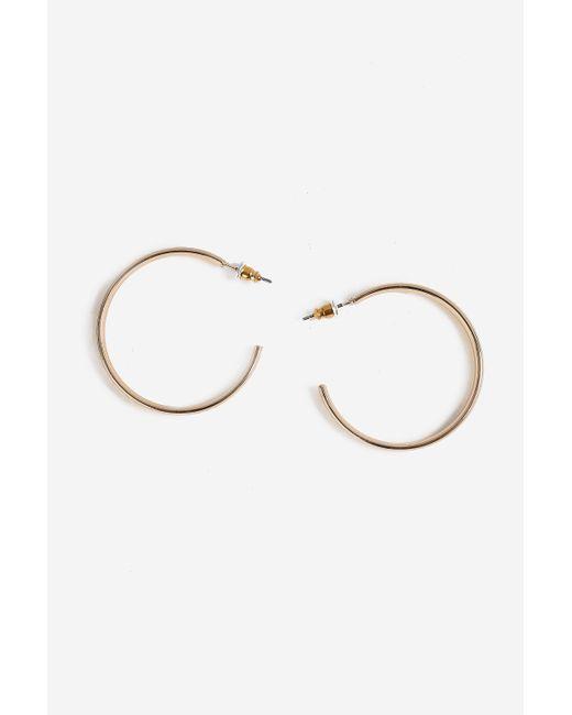 TOPSHOP - Metallic Engraved Hoop Earrings - Lyst