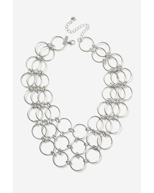 TOPSHOP | Metallic Circle Link Collar Necklaces | Lyst