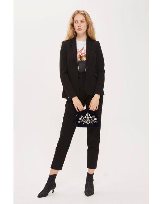TOPSHOP - Black Suit Trousers - Lyst