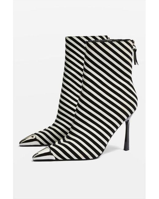6bc66f42f TOPSHOP - Black Hypnotise Ankle Boots - Lyst ...