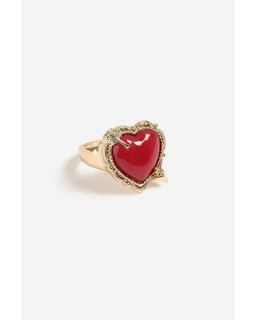 TOPSHOP - Red Heart Ring - Lyst
