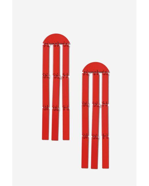 TOPSHOP | Red Metal Tassel Earrings | Lyst