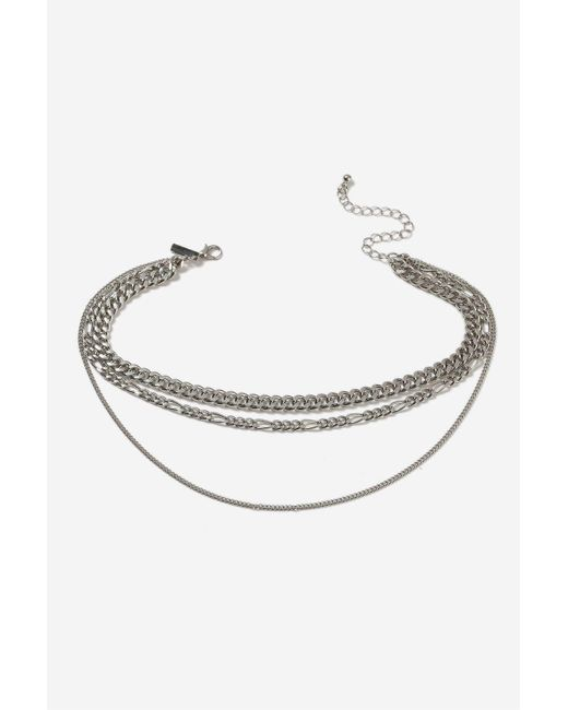 TOPSHOP | Metallic Three Row Chain Choker Necklace | Lyst