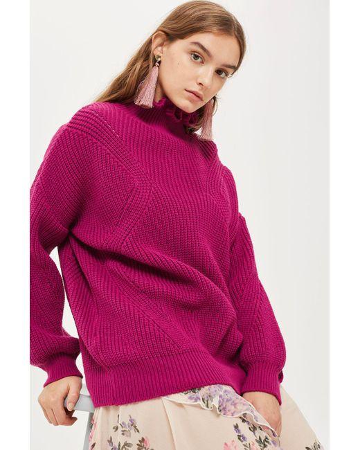TOPSHOP | Pink Beaten Tassel Earrings | Lyst