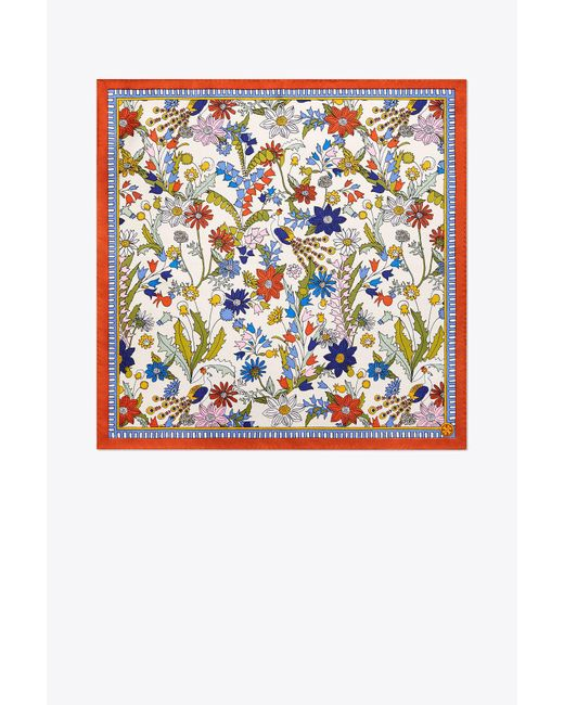 Tory Burch - Multicolor Meadow Sweet Silk Neckerchief - Lyst