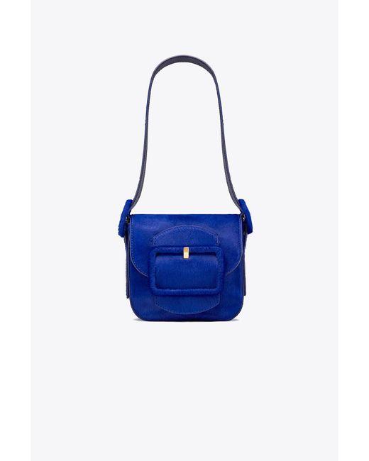 Tory Burch | Blue Sawyer Calf Hair Mini Shoulder Bag | Lyst