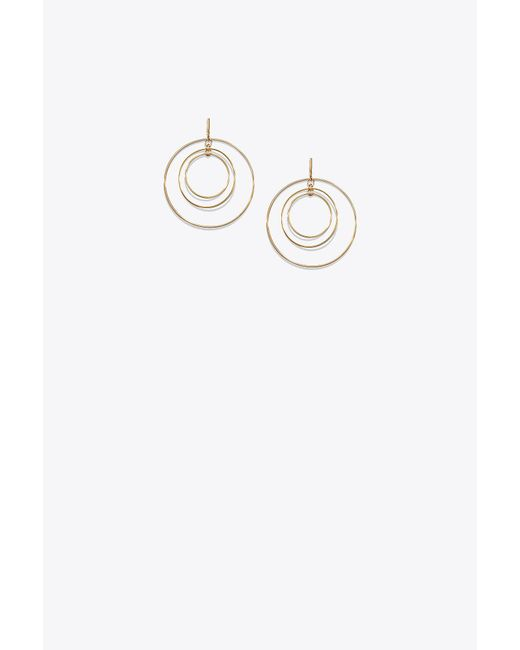 Tory Burch - Multicolor Wire Hoop Earring - Lyst