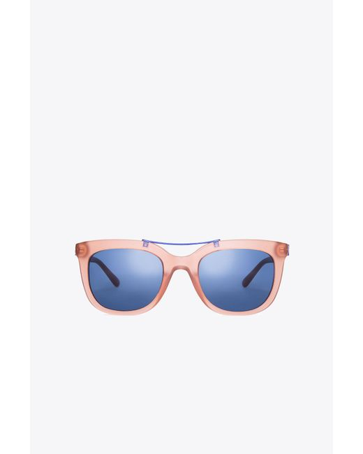 Tory Burch | Blue Bridge Square Sunglasses | Lyst